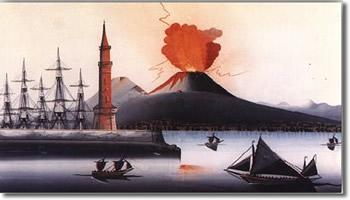 eruzione del vesuvio 1868 museo di San Martino