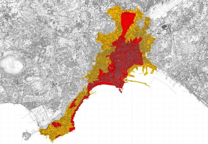 Mappa del sito Unesco di Napoli