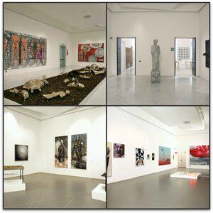 collage foto sale espositive primo piano