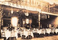 Foto d'epoca dell'esterno del ristorante
