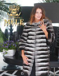 Foto di una modella che indossa una pelliccia