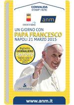 Biglietto celebrativo per Papa Francesco