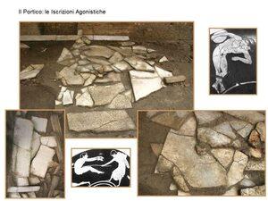 Alcuni dei reperti archeologici ritrovati durante i lavori di realizzazione della stazione
