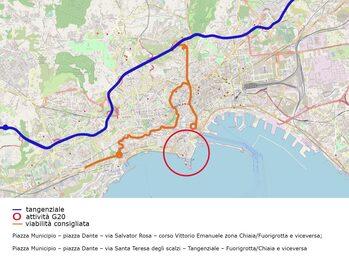 Mappa Google della viabilità consigliata