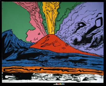 Andy Warhol, Vesuvius 1985 acrilico e inchiostro serigrafico su tela 230 x 300 cm Museo Nazionale di Capodimonte, Napoli ©The Andy Warhol Foundation for the visual Arts inc. by SIAE 2014