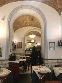 Foto recente dell'interno del ristorante